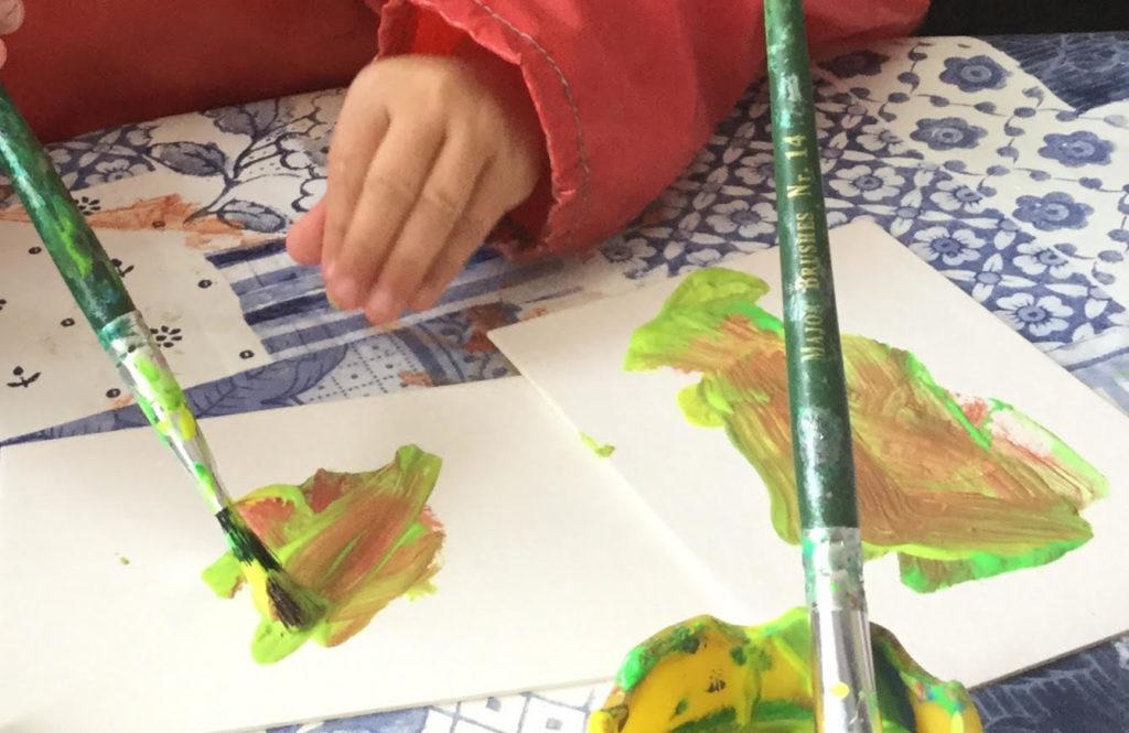 Penguin preschool child play