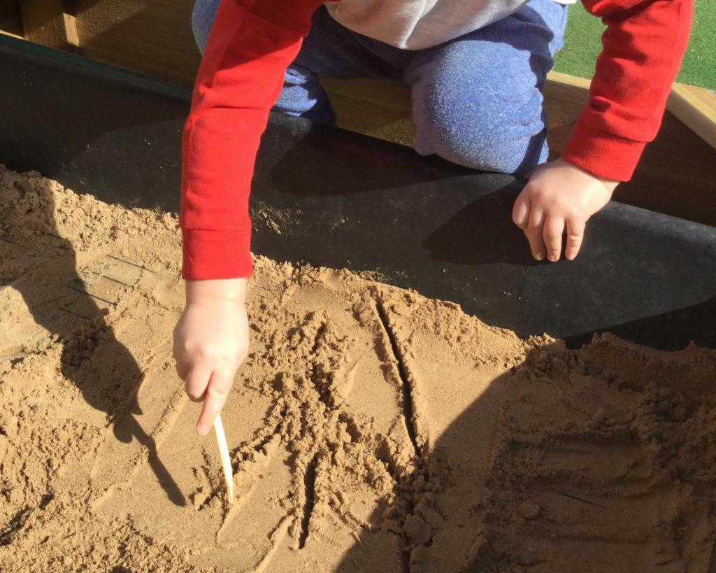 Penguin Preschool sandpit play time