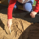 Penguin Preschool sandpit play time