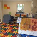 Skylark Preschool painting fun